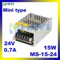 Utini Mini Power Supply MS-15-15 with Single Switching Output 15V 1A Micro Power Supply